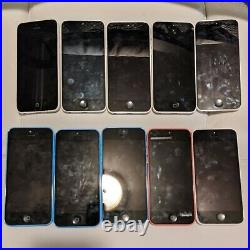 10 Lots iPhone 5c ALL Unlocked and Working Mixed Colors as seen on the pictures