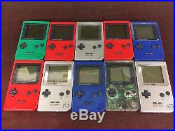 10 Wholesale Tested Gameboy Pocket Gbp Systems/ Consoles Huge Lot