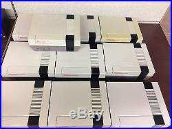 10 Wholesale Tested Nes Nintendo Systems/ Consoles Huge Lot