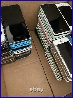 169 iPhone MIXED LOT of 5s, SE, 5c, 5 LIQUIDATION SALE FAST FREE SHIPPING