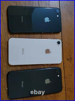1lot of 9 Apple iPhone 8 64GB A1905 GSM -, Mix carriers AT&T, T-Mobile, Verizon