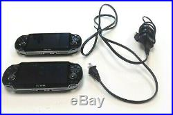 2 PS Vita 1101 Consoles Lot of 2 Systems with Wall Charger Preowned