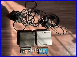 2 x GameBoy Advance SP Consoles Black & Silver + 2 games, charger, link lead