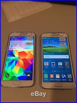 2 x Samsung Galaxy S5 SM-G900T 32GB Shimmery White (T-Mobile) Smartphone