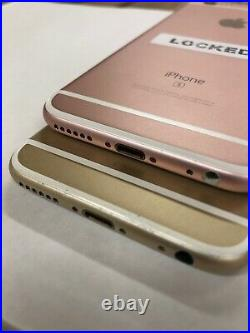 (2pc Lot) Apple iPhone 6s 128GB/64GB Rose Gold/Gold A1633 (4 Parts)