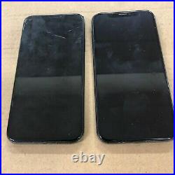 (2pc Lot) Apple iPhone X 64GB Space Gray (For Parts) Bad LCD/Bad Logic Board