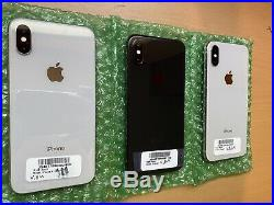 3 Units Of Apple iPhone X 256GB Silver/Grey (Unlocked) A1901 (GSM)