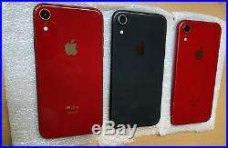 3 Units Of Apple iPhone XR 64GB Black Red(Unlocked) A1984 (GSM)