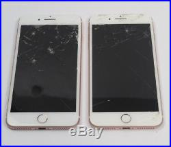 Apple iPhone 7 Plus 128GB Rose Gold A1661 (Lot of 2)