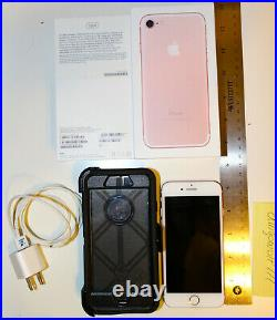 Apple iPhone 7 (Rose Gold, 32GB) with OtterBox Case Used