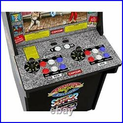 Arcade 1up Street Fighter 2 Arcade1UP Retro Cabinet Video Game COMBO + 2 Stools