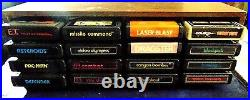 Atari 2600 Console/Game Lot Heavy Sixer Console Joysticks Paddles 16 Games More