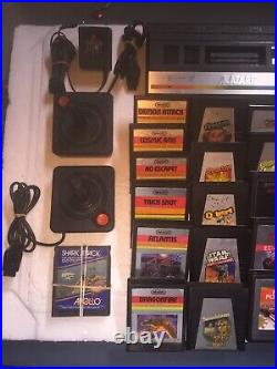 Atari 2600 Jr Rainbow Console Bundle with OEM AC Power Supply, Controllers & Games