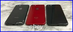 B@d Imei Lot Of 3 Apple Iphone 8 Black/red 64gb For Parts Or Repair