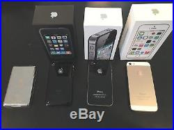 BEST APPLE LOT! ALL WORKING! IPhone 5S 64GB + FREE iPhone 4S & 3G & VIDEO IPOD
