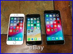 Batch Of 3 IPhones 6, 6s, & 6s Plus UNKNOWN CARRIERS