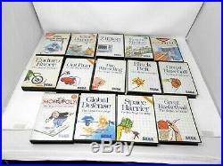 CIB The Sega Master System video game console complete in the Box with 15 Games