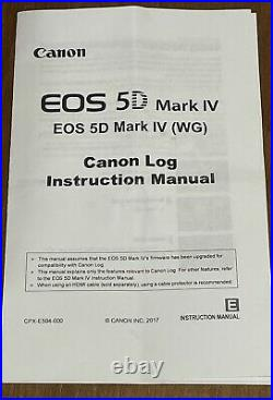 Canon 5D Mark iv C-LOG Camera with Grip & Service Records (16K SC) -Free Shipping