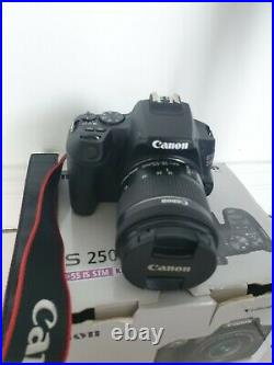 Canon EOS 250D 24.1MP Digital SLR Camera Black Kit with EF-S 18-55 mm f/3.5-5