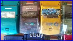 Gameboy Color Lot of 13 set Junk for parts or repair GBC Nintendo console JAPAN