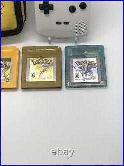 Gameboy Color Pokemon Games Lot New Save Battery Red Yellow Gold Crystal Case