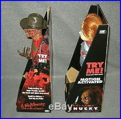 Gemmy 2008 14 Electronic FREDDY KRUEGER and BRIDE OF CHUCKY Figures New