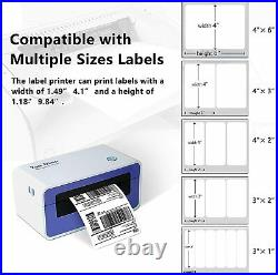 High Speed Direct Thermal Shipping Label Printer 4x6 Barcode with Label Holder