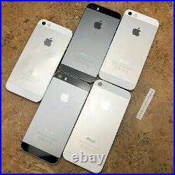 ICL/Damaged Lot of 5 Apple iPhone 5S 16GB/32GB/64GB Space Gray/Silver