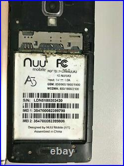 LOT OF 12 MIX NUU A3 (NUUA3) 8GB Dual Sim Smartphone Multi-Color FOR PARTS AS-IS