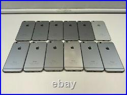 LOT OF 12 iPhone 6, 16/64 GB, Verizon/Sprint/AT&T, Space Gray/Silver