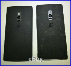 LOT OF (2) OnePlus 2 64GB A2003 Grey/Black, FOR PARTS AS-IS