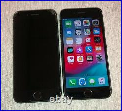 LOT OF 2 iPHONE 7 32GB (T-Mobile ONLY) Space Gray. B@D ESNCRACKED GLASS AS IS