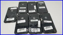 LOT OF 7 Apple iPhone X 64GB Space Gray Account Locked Untested Parts