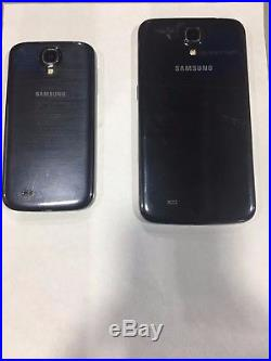 LOT of 2 Samsung Android Smartphones S4, Mega Fully Functional