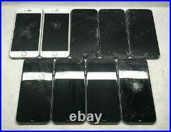 LOT of 9 Apple iPhone 6 (A1549/A1586) IC LOCKED & CRACKED For Parts ZK