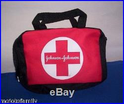 Lot 180 New Johnson & Johnson Zippered FIRST AID Emergency KIT BAGS Compartments