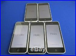 Lot 5 Good Apple iPhone 5C 16GB Verizon & Factory Unlocked for GSM White Color