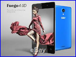 Lot Of 5 Sky Devices Fuego 4.0D Android 4.4 2MP+2MP 2G Unlocked Phone Wholesale