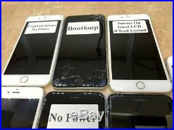 Lot Of 7 Apple Iphones (a1687/a1522/a164/a1524) For Parts Or Repair Onlyre@d