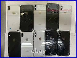 Lot of 10 Apple iPhone X (IC locked) unknown Carriers Please Read Description