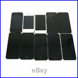 Lot of (10) Damaged iPhones (4s, 5, 5s, 5c) As Is For Parts