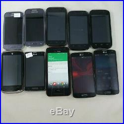 Lot of 10 Mixed HTC LG ZTE Mixed Carrier Android Cellphone Wholesale BULK 701