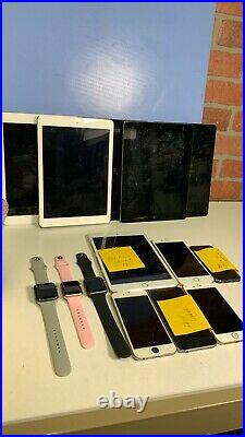 Lot of 14 IOS Devices Apple Watch iPhone iPad Not Functional For Parts