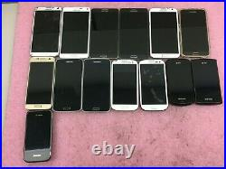 Lot of 14 Samsung Mixed Models Smartphones READ/Untested/For Parts PH37