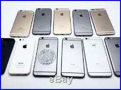 Lot of 15 iPhone 6 / 6s PLUS / 5 TURN ON AS-IS for parts or repair! IMEIs LISTED