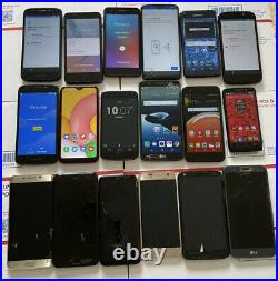 Lot of 18 Samsung, LG, Motorola, other Cell phones Wholesale Dealer Plus Extras
