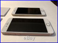 Lot of 2 Apple iPhone 7's 32GB Rose Gold Gold (AT&T) A1778 (GSM) Bad ESNs