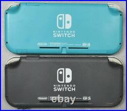 Lot of 2 Nintendo Switch Lite Handheld Gaming System HDH-001 ISSUES