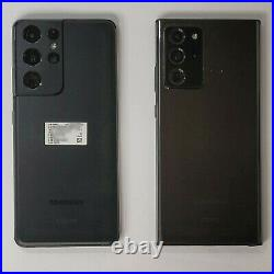 Lot of 2 Samsung Galaxy S21 Note 20 Ultra ESN IMEI Bad Mixed