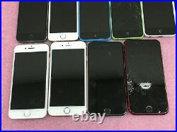 Lot of 20 Apple iPhones 5c/5s/6s/7/SE Product Red Untested/For Parts AP699